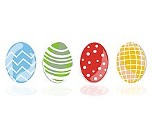4 easter eggs Photographic Print