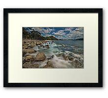 Hotwater Beach Rocks Framed Print