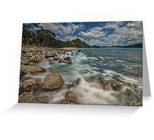 Hotwater Beach Rocks Greeting Card