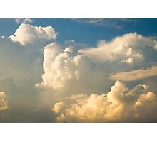 Blue Sky And Building Dramatic Storm Clouds Photographic Print