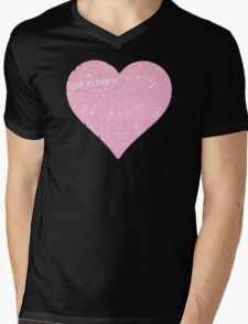 Get In Here Love Heart Mens V-Neck T-Shirt