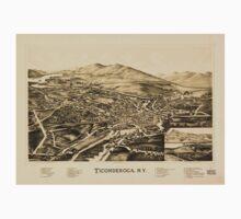 Panoramic Maps Ticonderoga NY One Piece - Long Sleeve
