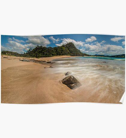 Hot Sands, Hot Water Beach Poster