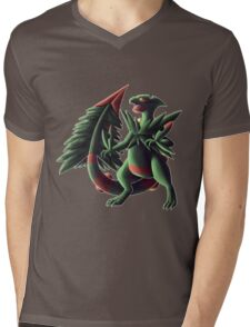 Mega Sceptile Mens V-Neck T-Shirt