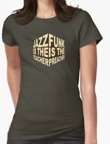 Jazzfunk Cube brownie Womens Fitted T-Shirt