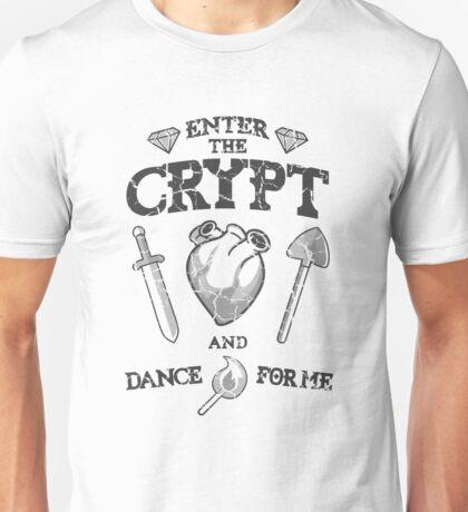 Enter the crypt. (dark) Unisex T-Shirt