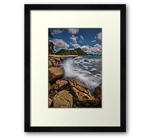 Hot Water Beach Driftline Framed Print