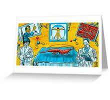 Treadmill Shrimp Greeting Card