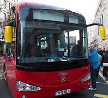 London Bus Irizar 12E auto electric bus in Regent Street London by Keith Larby