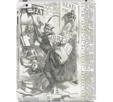 Jack the Ripper Punch Cartoon The pandemonium of posters  1888 iPad Case/Skin
