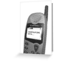 Congratulations Muffin... (black & white) Greeting Card