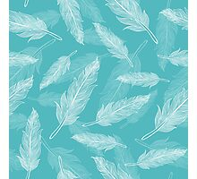 Vintage seamless feathers pattern  Photographic Print