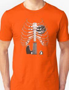 Guitar Skeleton Microphone Rock Music Lovers Unisex T-Shirt