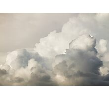 Storm Clouds and Thunder Heads Before Rain Storm Photographic Print
