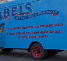 Abels removal lorry in Regent Street London Sticker
