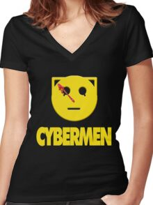 CYBERWATCHMEN Women's Fitted V-Neck T-Shirt