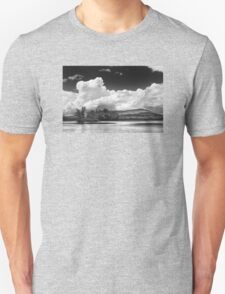 Black And white Vienna Maine Flying Pond With Storm Clouds T-Shirt