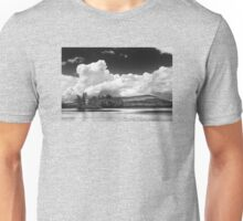 Black And white Vienna Maine Flying Pond With Storm Clouds Unisex T-Shirt
