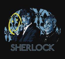 Sherlock - A Study in Blue Kids Tee