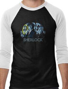Sherlock - A Study in Blue Men's Baseball ¾ T-Shirt