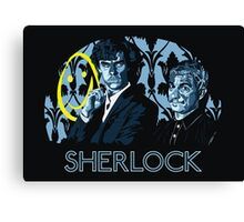 Sherlock - A Study in Blue Canvas Print
