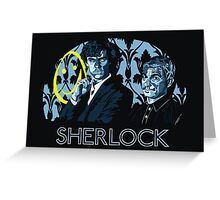 Sherlock - A Study in Blue Greeting Card
