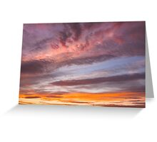 Colorful Orange Yellow Clouds At Sunset Greeting Card