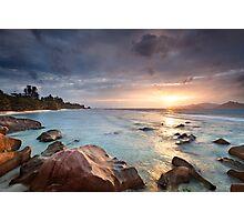 La Digue Sunset Photographic Print
