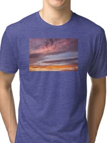 Colorful Orange Yellow Clouds At Sunset Tri-blend T-Shirt