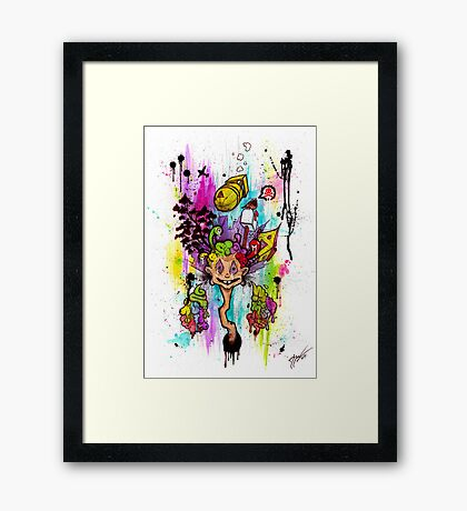 Atomic Thinking Framed Print