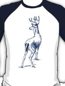 Curious Deer (blue) T-Shirt