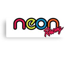 Neon Racing Canvas Print