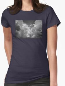 Black And white Sky With Dramatic Storm Clouds Womens Fitted T-Shirt