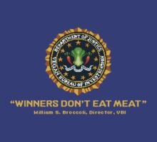 Winners Don't Eat Meat - Scott Pilgrim inspired Vegan Police Logo (transparent version) by AdrienneOrpheus