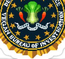 Winners Don't Eat Meat - Scott Pilgrim inspired Vegan Police Logo (transparent version) Sticker