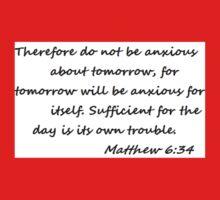 Matthew 6:34 Baby Tee