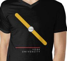 ¥ORK UNIVERSITY [black] Mens V-Neck T-Shirt