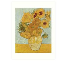 Still Life: Vase with Twelve Sunflowers by Vincent van Gogh Art Print
