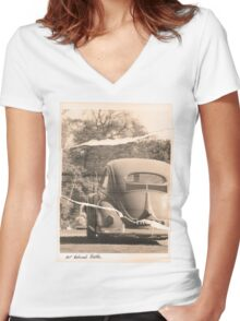 Our Beloved Beetle Women's Fitted V-Neck T-Shirt
