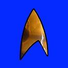 Star Trek blue iphone by Margaret Bryant