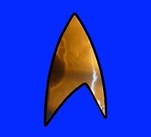 Star Trek blue iphone by Margaret Bryant