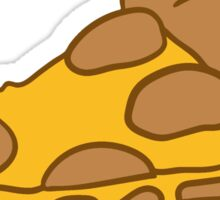 salami cheese dripping slice of pizza sausage slices Sticker