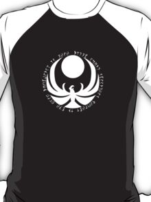The Nightingale Symbol - White Daedric writings T-Shirt
