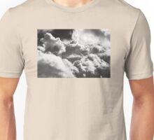 Black And white Sky With Building Storm Clouds Unisex T-Shirt