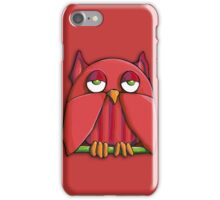 Red Owl red iPhone Case iPhone Case/Skin