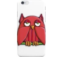 Red Owl iPhone Case iPhone Case/Skin