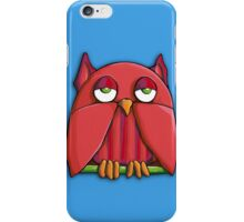 Red Owl aqua iPhone Case iPhone Case/Skin