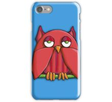 Red Owl aqua iPhone Case iPhone Case/Skin