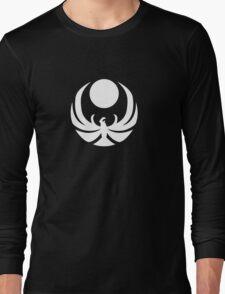 The Nightingale Symbol - White Simple Long Sleeve T-Shirt