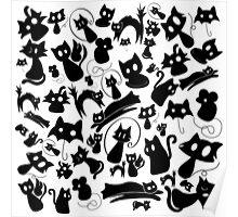 Kittydonia black Poster